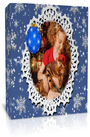 «Рождественская снежинка». Готовый проект для Proshow Produсer