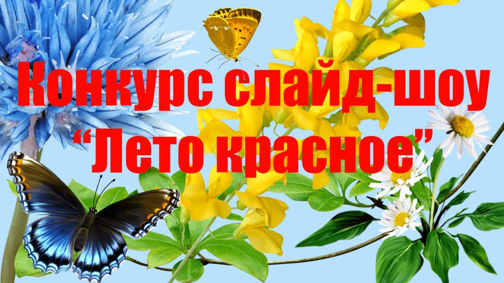 "Конкурс слайд-шоу ""Лето красное"""