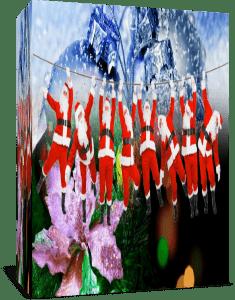 Переходы Новогодние Рождественские Санта Клаусы для Proshow Producer