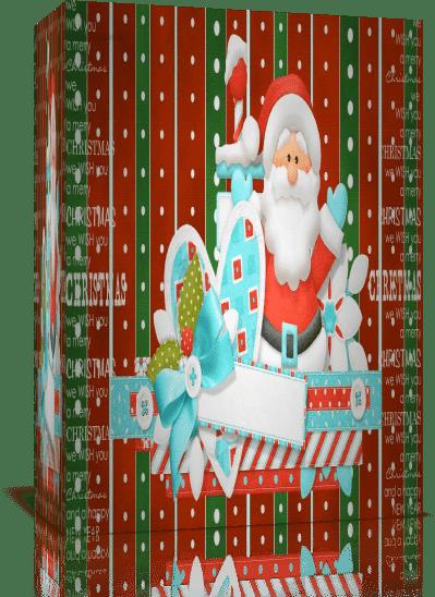 Санта. Проект для Proshow Producer + скрап-набор + PSD шаблон