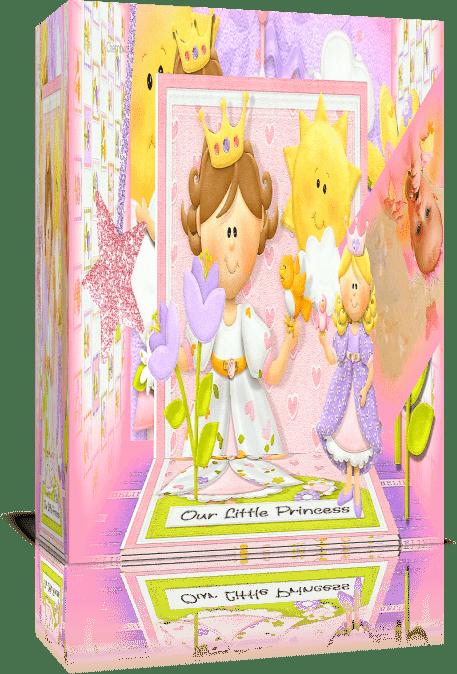 Моя маленькая принцесса/ Книжка-раскладушка. Проект Proshow Producer