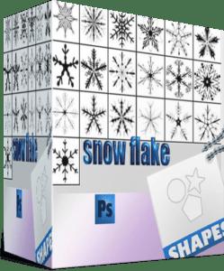 Фигуры для Photoshop «Снежинки»