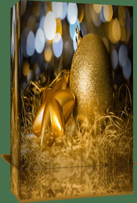 Золотые рождественские элементы